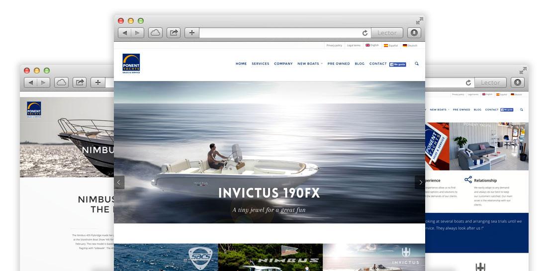Casos de éxito Clicksun Empresa de Marketing Online Mallorca | Ponent Yachts